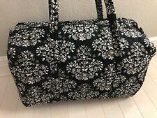 Vera Bradley Large Duffel Bag Chandelier Noir Pattern Foldable Travel Black