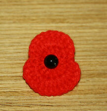 HANDMADE CROCHET  POPPY REMEMBRANCE DAY POPPY  BROOCH
