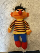 "Vintage 1970's Knickerbocker Sesame Street Plush Ernie Doll 10 1/2"" tall"