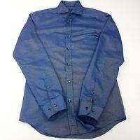 JOOP! Mens Formal Shirt 38 15 (SMALL) Long Sleeve Blue Slim Fit  Cotton