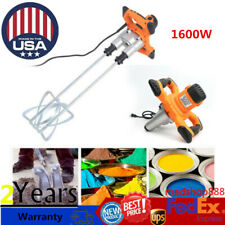 Electric Concrete Cement Mixer for Plaster Paint Cement Mortar Twin Paddle 110V