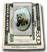 Grizzly Mountain Money Clip Wildlife Bear Hunt Sportsman Grizzlies - Free Ship