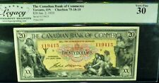 1935 $20 MYTHOLOGICAL CHARTERED BANKNOTE. CANADIAN BANK OF COMMERCE