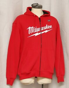 Milwaukee M12 Red HEATED GEAR Hoodie Jacket, Men's L, (no battery), Near Mint!