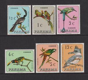 Panama - 1967, Wild Birds set - MNH - SG 944/9