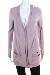 Emporio Armani Jeans Womens Layered Cardigan Sweater Pink White Size 10