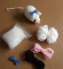 knitting pattern and complete kit for Mouse toy - Free Postage
