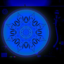 Portable Products Dj Turntable Slipmat 12 inch Glow under Blacklight - Land Bone