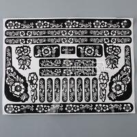 Tätowierung Körperkunst Henna Mehndi Schablonen Indische Hochzeit Sticker Hand #