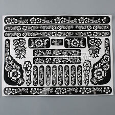 Tattoo Body Art Henna Mehndi Stencils Indian Wedding Stickers Hand Feet Nail New
