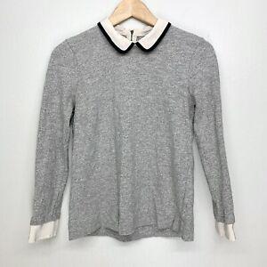 J Crew Peter Pan Silk Collar Sweater Size XS