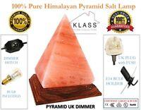 100% HIMALAYAN PINK SALT BIG PYRAMID TRIANGLE SHAPE CRYSTAL ROCK IONIZING LAMP