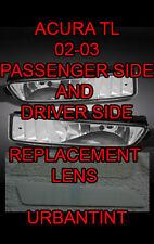 02 03 ACURA TL TL type S Lexan Fog Light Lens replacment foglight lenses*A PAIR*