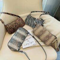 Bag Fashion Leopard Patterns Shoulders Women Personality Leather Purses Handbags