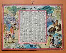 DPT 16 CALENDRIER ALMANACH PTT 1954 ZOO DE VINCENNES  DORNACH - OLLER - TBE