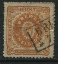 Bremen 1866 2 gr red orange used with minor thins