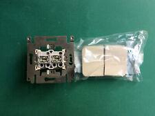 Interrupteur double allumage - serie schakelaar Niko Pr20 crème réf.12-615