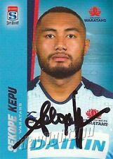 ✺Signed✺ 2017 NSW WARATAHS Rugby Union Card SEKOPE KEPU