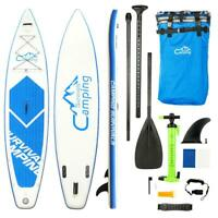 Inflatable Surfing Board SUP 12' Stand Up Paddle Board & Kayak 2 in 1 w/Pump New