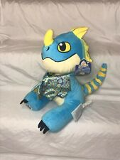 """Build A Bear How To Train Your Dragon Stormfly Blue Yellow Wings 14"""" Plush Bab"""