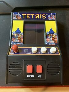 TETRIS Miniature Arcade Machine Handheld Puzzle Video Game **TESTED**