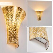 Wohn Schlaf Zimmer Glas goldfarben Flur Leuchte Licht Effekt Wand Lampe Schalter