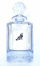 Wolf Design Cut Crystal Glass Decanter Dog Gift