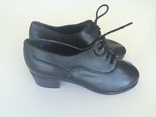 """Dance Character Spectator Shoes by Leo's Black with 1 1/2"""" Heel Size 4M"""