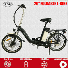 TDR 20 Inch Foldable Ebike Scooter City Commuter Electric Bicycle 36V 250W 10AH