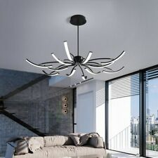 Lustre Black White Iron Dimmable Led Chandelier Bedroom Kitchen Adjustable Lamp