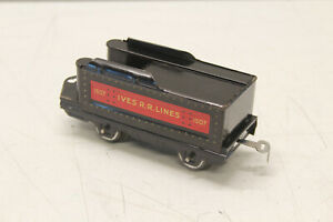 Ives 1507 Tender Tin Litho 4 Wheel Irvington Prewar O Gauge EXCELLENT CONDITION