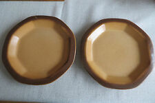 12 Gerzit Teller Staffel Stoneware - Keramik - braun - 23 cm -