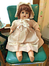 "Vintage composition baby doll, 27"", mohair wig, unmarked"