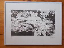 Lithographie de Milo Manara , numérotée et signée au crayon