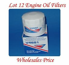 Lot 12 Oil Filter V4651 GROUP7 MADE IN USA FIt Chrysler Dodge Ford Jeep Lincoln