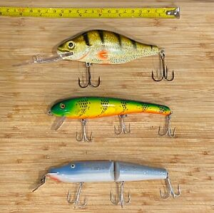 3 Fishing Swimbait Lures, 2 have never been used!