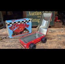 RARE NVR USD VTG Tin Litho Race To Riches Lock and Key Toy Bank Made n Japan NIB
