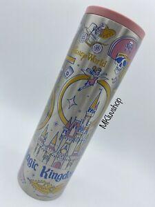 Disney World 50th Anniversary Magic Kingdom Starbucks Metal Tumbler Bottle New