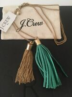 NWT J Crew Women's Multi-tassel pendant Warm Emerald necklace