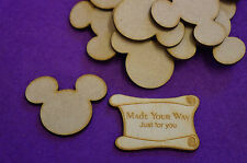 15 x Mouse Head Ears 5cm/50mm - Craft Embellishment MDF Laser cut wooden shape