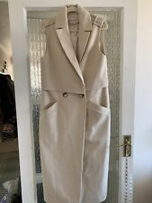 RIVER ISLAND LONG SLEEVELESS SMART DRESS SIZE UK 8 IN GREAT CONDITION