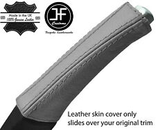 LIGHT GREY TOP GRAIN REAL LEATHER E BRAKE HANDLE COVER FITS VOLVO V70 S60 01-07