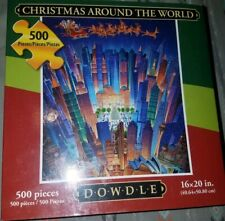 DOWDLE FOLK ART COLLECTORS PUZZLE CHRISTMAS AROUND THE WORLD 500 PCS