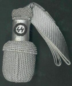 Silver Sword Knot German Officers Army Officer Knot Silver/GERMAN OFFICER SWORD
