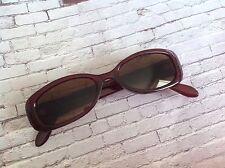 vintage burgundy faux tortoiseshell rectangular frame sunglasses 60s 70s style