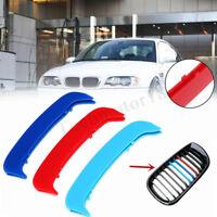 FOR BMW 3,E46 saloon,coupe,convertible Grille M tri-Colour Cover/Clip/Strip/Trim