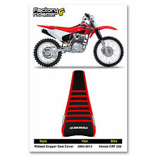 1995-1996 HONDA CRF 230 Red/Black/Red RIBBED GRIPPER SEAT COVER BY Enjoy MFG