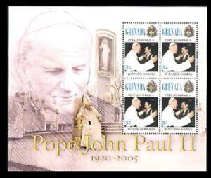 Grenada - 2005 - Pope John Paul II - Sheet Of 4 - MNH