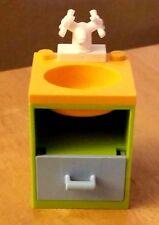 LEGO City Custom Furniture BATHROOM SINK Lime White Faucet Friends Modular House