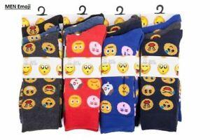12 Pairs mens Emoji Socks Funky Novelty Silly Funny Socks UK 6-11